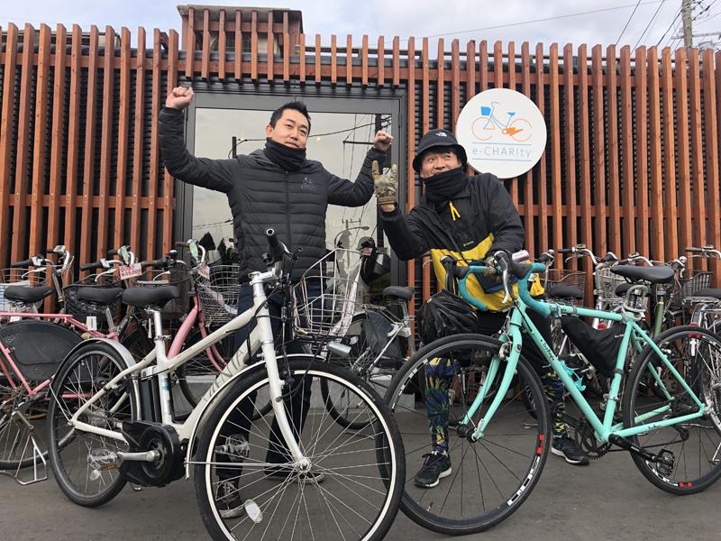 e-CHARIty自転車部出発直前