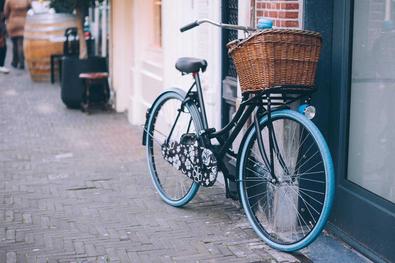 街に置いてある自転車