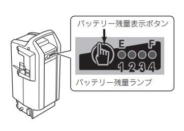 電動自転車バッテリーの残量表示ボタン